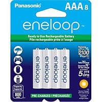 Adorama Deal: 8-Pack of Eneloops: AA's $15, AAA's $10 After $8 Rebate + Free Shipping (buy more & SAVE)