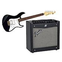 "Adorama Deal: Yamaha Pacifica PAC012 Double Cutaway Electric Guitar + 8"" Fender Mustang I (V.2) Guitar Amplifier with 8"" Speaker $200 + free shipping"