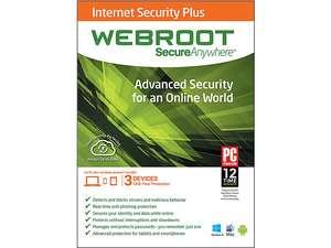 Webroot SecureAnywhere Internet Security Plus 2014 (3-users - Digital Download)  $6