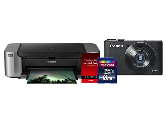 Canon PowerShot S110 12.1MP Camera + Pixma Pro-100 Printer + 16GB Transcend Card  $175 After $400 Rebate + Free Shipping