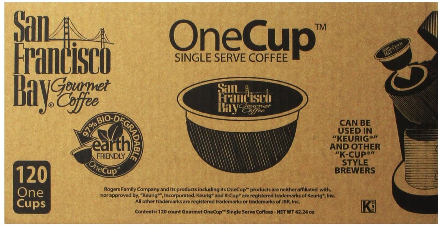 120-Ct San Francisco Bay Coffee OneCup for Keurig Brewers (Breakfast Blend)  $34 + Free Shipping