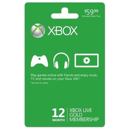 12-Month Microsoft Xbox Live Gold Membership  $40 + Free Shipping
