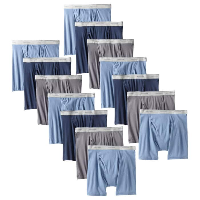 14-Pack Fruit of the Loom Boxer Briefs (Assorted)  $24.50 + Free Shipping