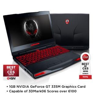"Alienware M11x Notebook: Intel Core 2 Duo SU7300 1.3GHz, 4GB DDR3, 160GB HD, 11.6"" WLED 1366x768 w/ Webcam, 1GB GeForce GT 335M $704"