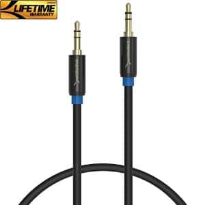 3ft Sabrent 3.5mm Gold Plated Audio Cable $2