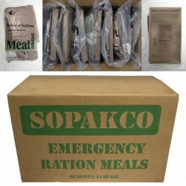 14 Sopakco MRE Meals Ready to Eat for Camping or Emergencies $39.00 + free shipping