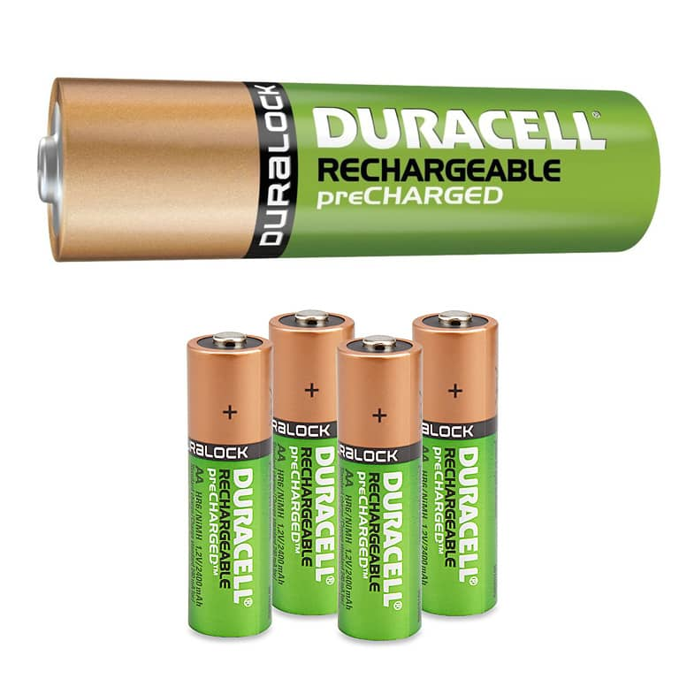 Duracell Pre-charged Rechargeable NiMH AA or AAA Batteries: 6-Pack  $10 & More + Free S&H