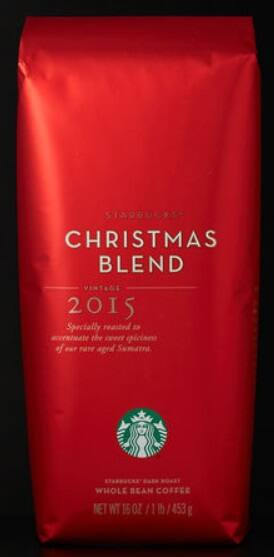 Starbucks 1-Lb Christmas Blend Whole Bean or Ground Coffee just $4.89 per Lb (was $14.95), buy a few to offset shipping. ex: 5-Lbs for $31 shipped, 10-Lbs for $57 shipped, etc..