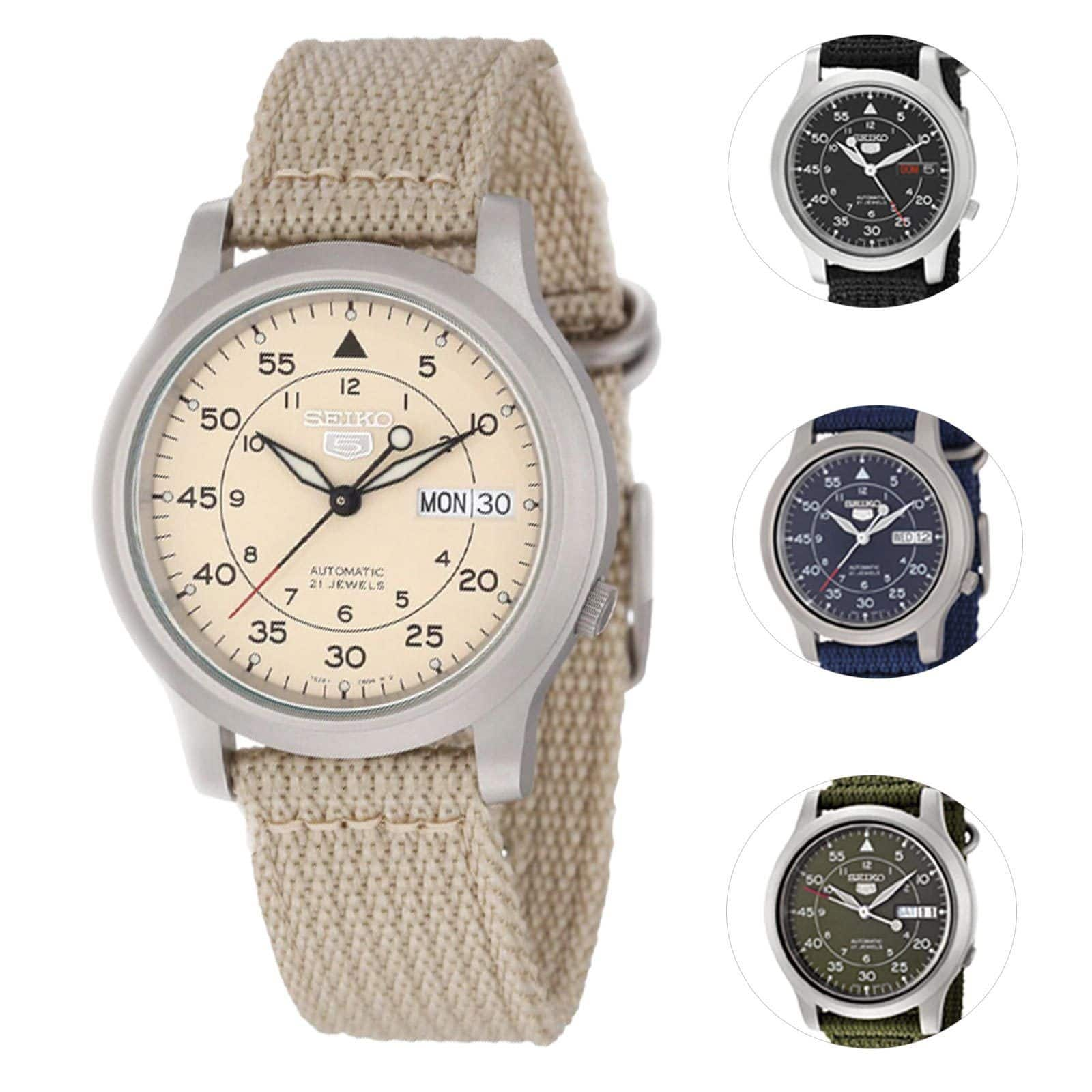 Seiko 5 Men's Automatic Watch $49.99 Free Ship