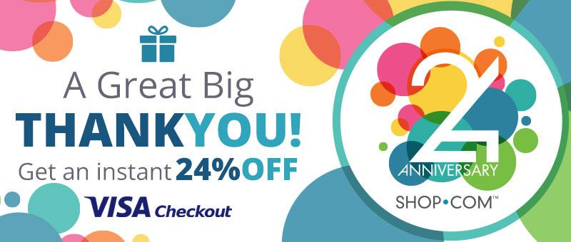 Shop.com: Additional Savings w/ Visa Checkout  24% Off (Max $24 Discount)