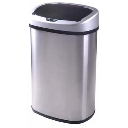 13-Gallon Touch-free Sensor Automatic Stainless Steel Trash Can  $35 + Free Shipping