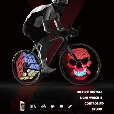 XuanWheel X1 192pcs RGB LED  Bicycle Wheel Spoke Light w/ Mobile Phone App Control $38 + free shipping