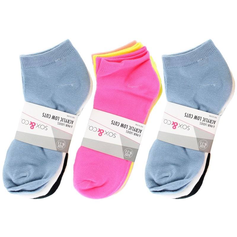 18 Pairs of Sox & Co. Ladies Low Cut Socks (Assorted Colors)  $12 + Free Shipping