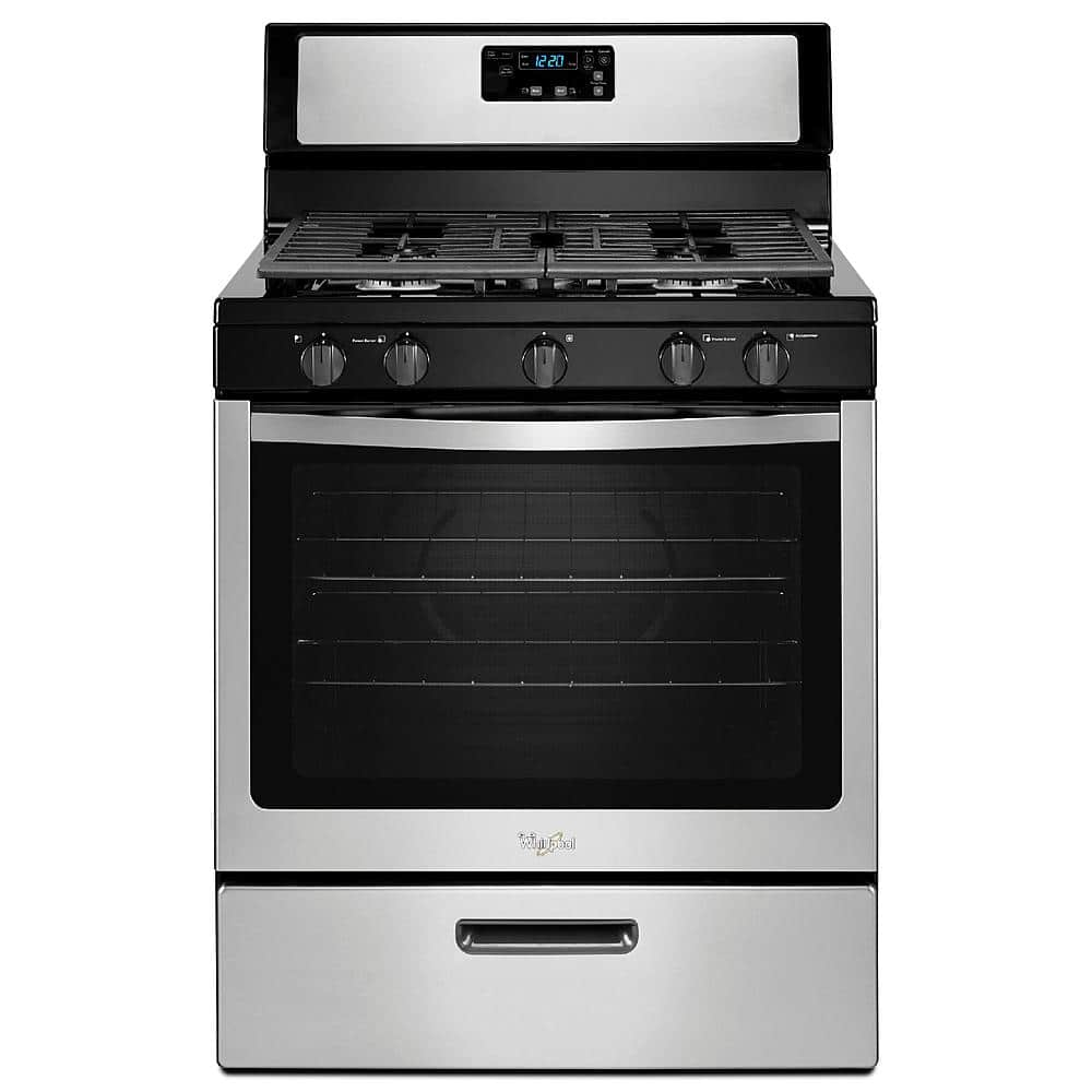 Whirlpool WFG505M0BS 5.1 cu. ft. Stainless Gas Range w/ Griddle  $418 + Free Shipping