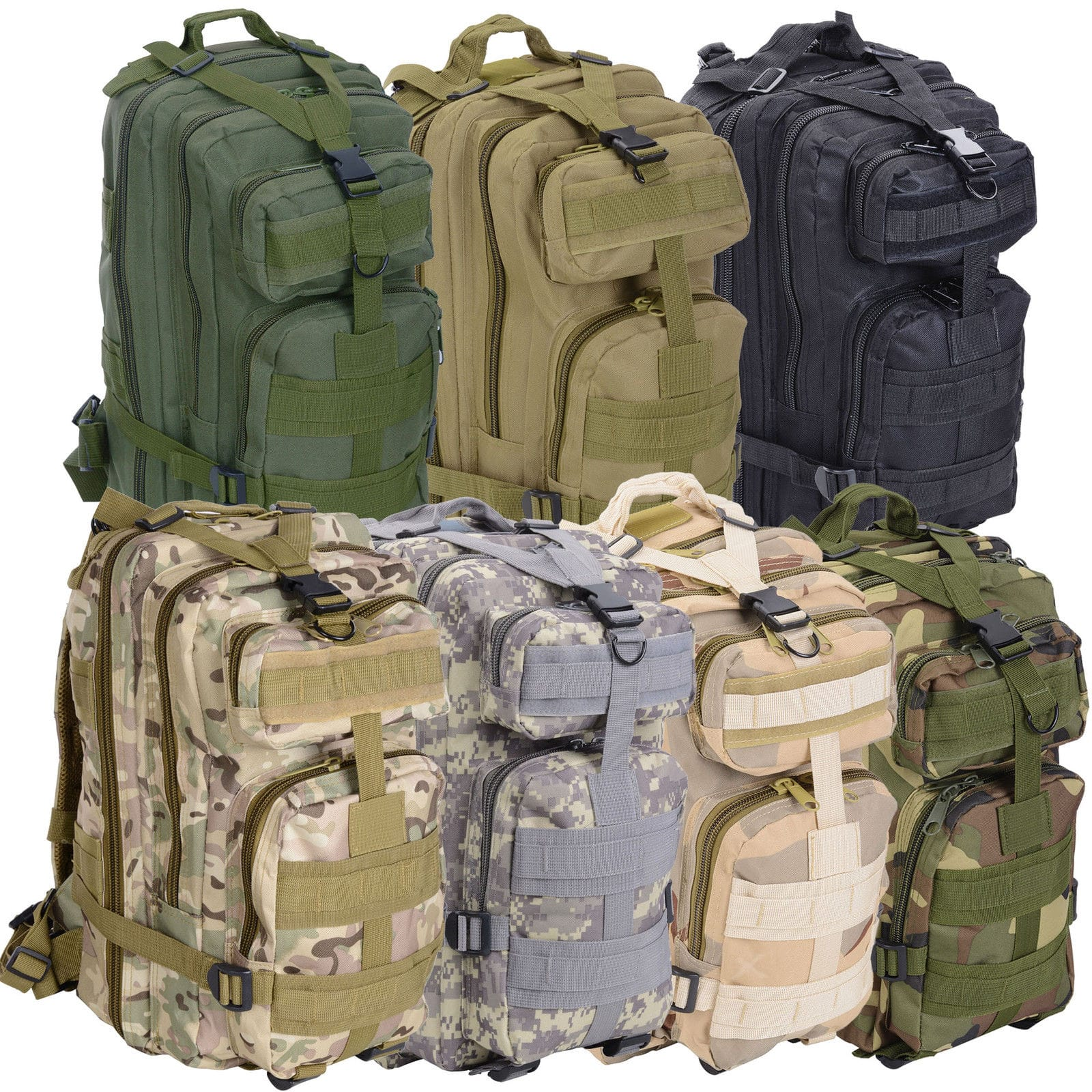 30L Military Molle Camping Backpack Tactical Camping Hiking Travel Bag Outdoor $16.50 + fs @ebay.com