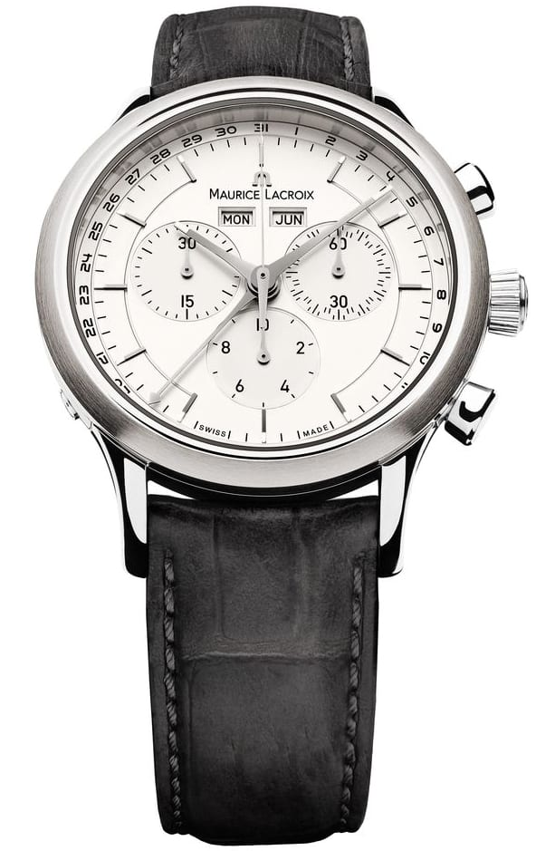 Maurice Lacroix Les Classiques Silver Dial Chronograph Watch on Strap or Bracelet $495 + free shipping