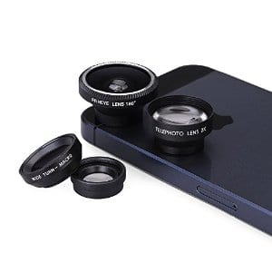 Magnetic Detachable Fish-Eye Lens for Smartphones and Tablets with Flat Camera $6 @ Amazon