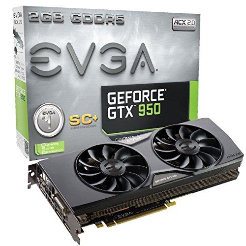 EVGA GeForce SC+ GAMING GTX 950 2 GB 128-Bit GDDR5 PCI Express 3.0 Graphics Card (02G-P4-2956-KR) for $99.99 AR & More + Free Shipping @ Newegg.com