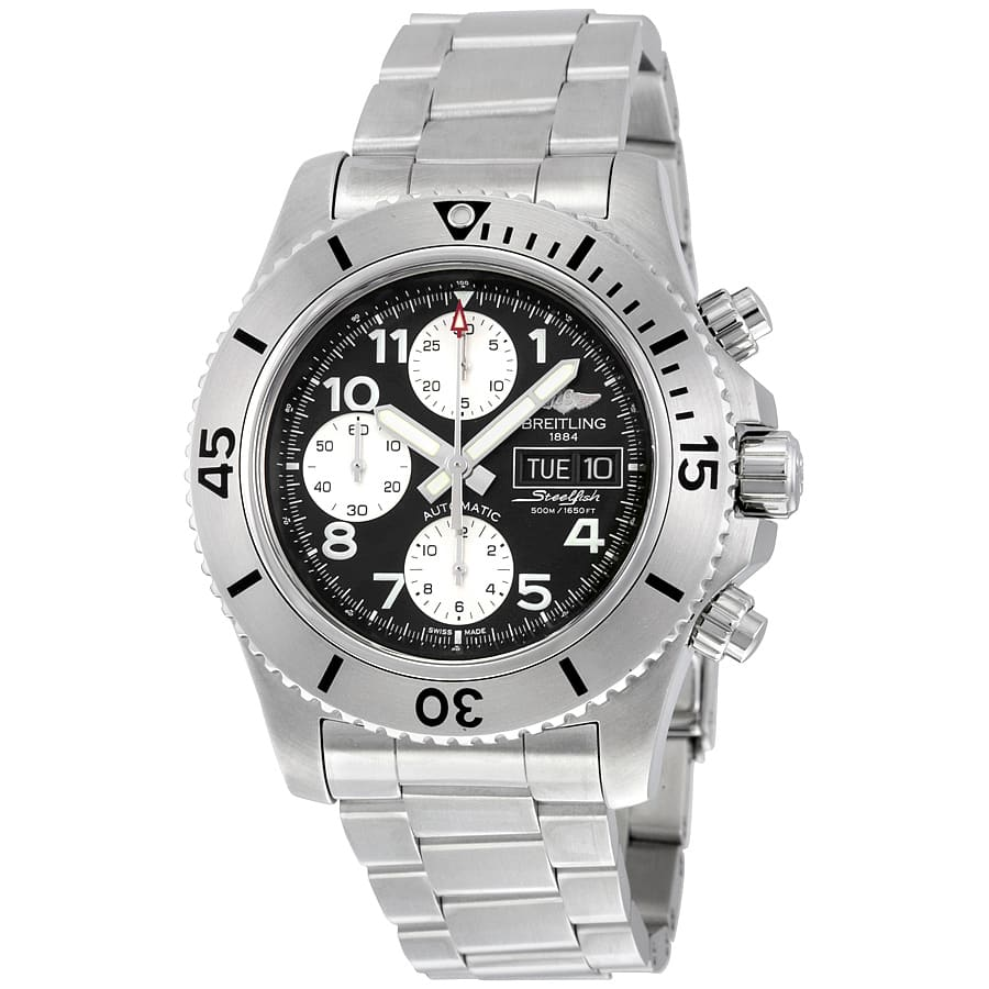 Breitling Superocean Steelfish Automatic Chronograph Diving Watch on SS Bracelet $2995 + free shipping
