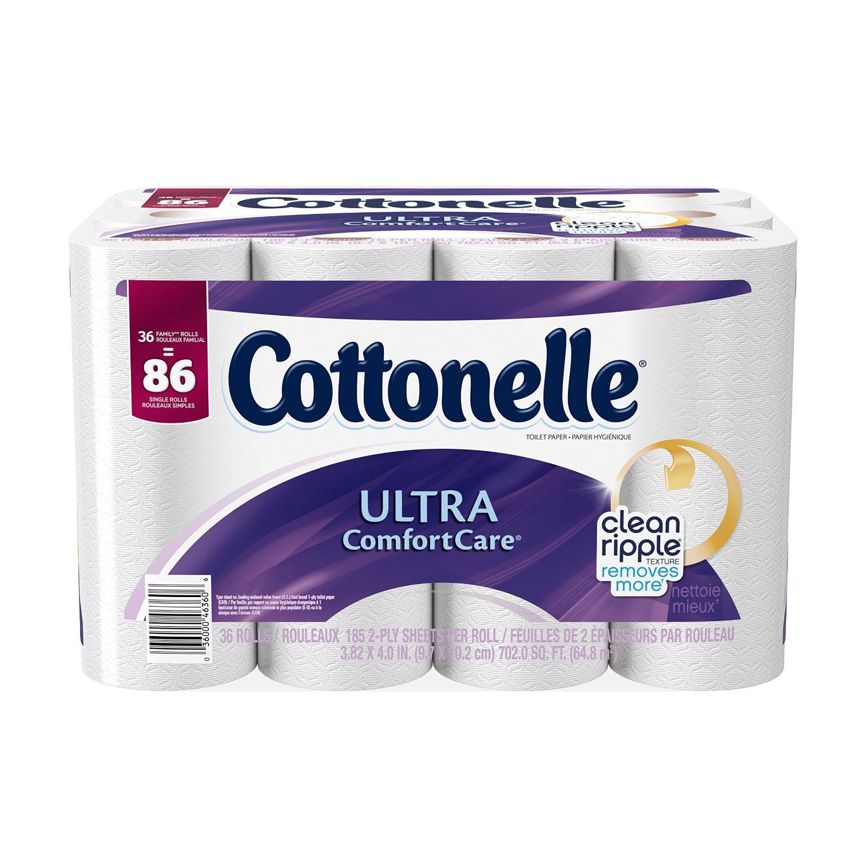 Prime Members: 36-pk Cottonelle Ultra ComfortCare Bath Tissue (family rolls)  $11.27 + Free S&H