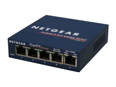 NETGEAR ProSAFE 5-Port Gigabit Ethernet Switch (GS105 v5) $15 + free shipping (after $10 rebate)