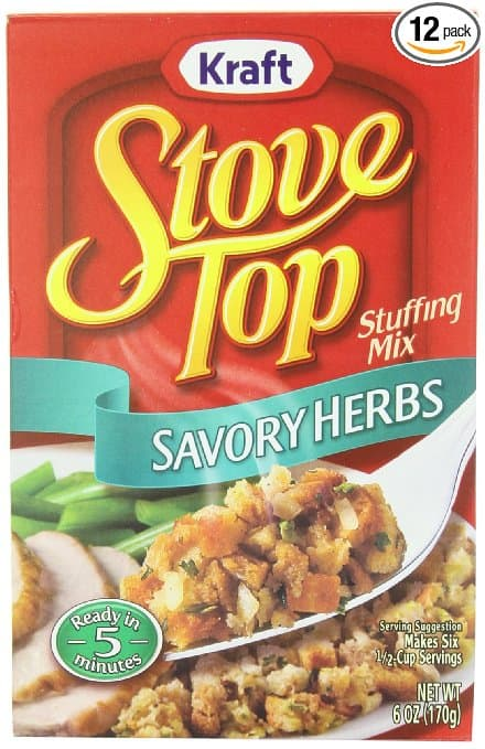 prime members: 12-pack of 6oz Kraft Stove Top Stuffing Mix (Savory Herb) $10.50 + free shipping ($9 w/ 5 s&s)