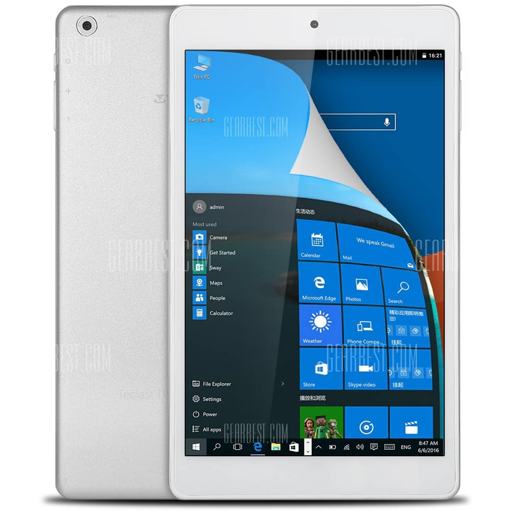 """8"""" Teclast X80 Power Tablet: 1920x1200, Z8300 CPU, 32GB Flash Android 5,1 + Win 10 $95 + free shipping"""