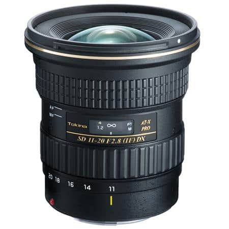 Tokina Lenses for Canon or Nikon: 11-20mm F/2.8 AT-X Pro DX EF Mount $479, Tokina 14-20mm f/2.0 AT-X Pro DX $779 + free shipping