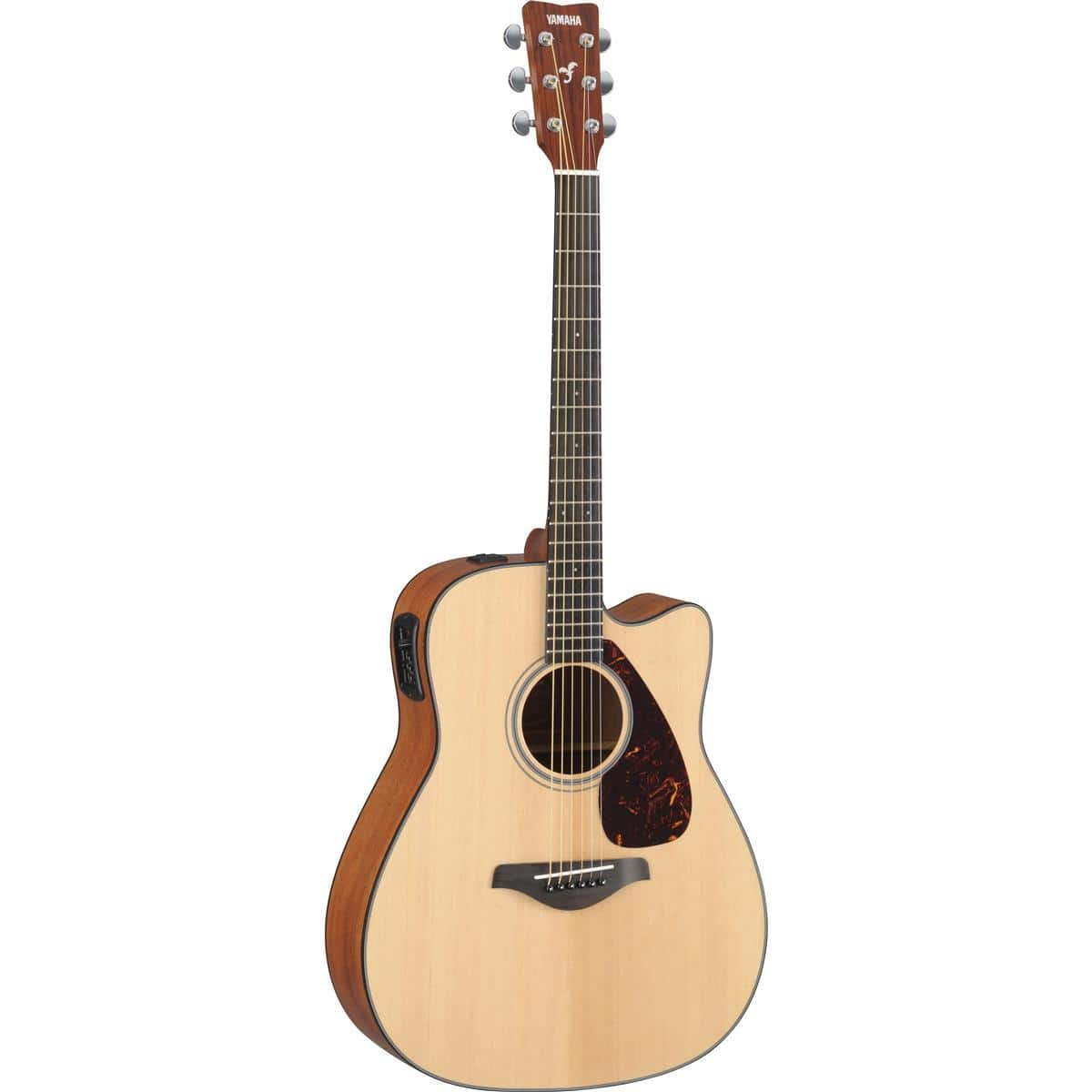 Yamaha FGX700SC 6 String Solid Top Cutaway Acoustic-Electric Guitar $199 + free shipping
