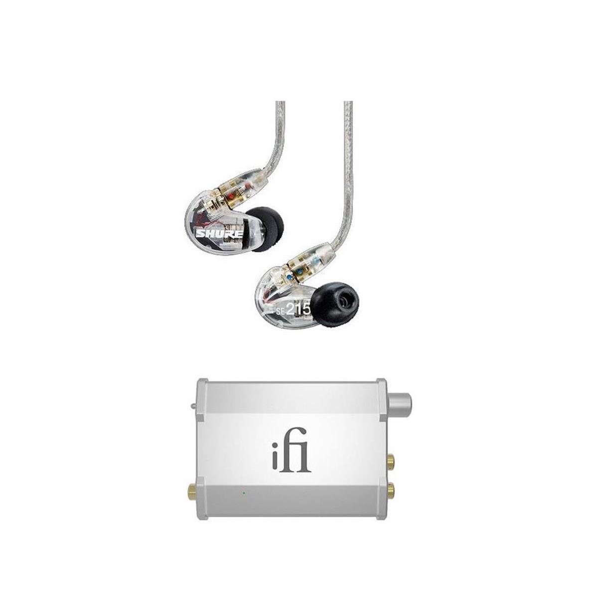 Shure SE215 In-Ear Headophones + iFi Nano iDSD Portable Amp / Dac $200 + free shipping