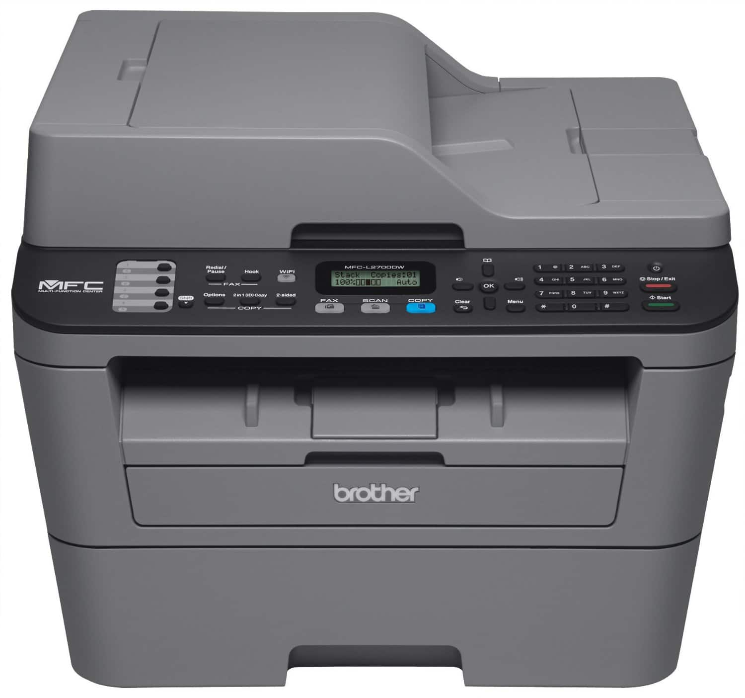 Brother MFCL2700DW Compact Laser All-In One Printer with Wireless Networking and Duplex Printing $109.99 @amazon