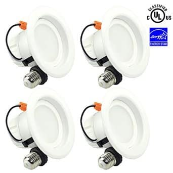 """4-pack SGL 4"""" Dimmable LED Ceiling Downlight 9W (65W Replacement), 5000K or 3000k, 720Lm) $30 + free shipping"""