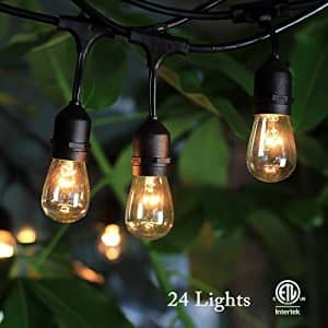 48ft (24 bulb) Weatherproof Commercial Grade String Lights $46 + free shipping