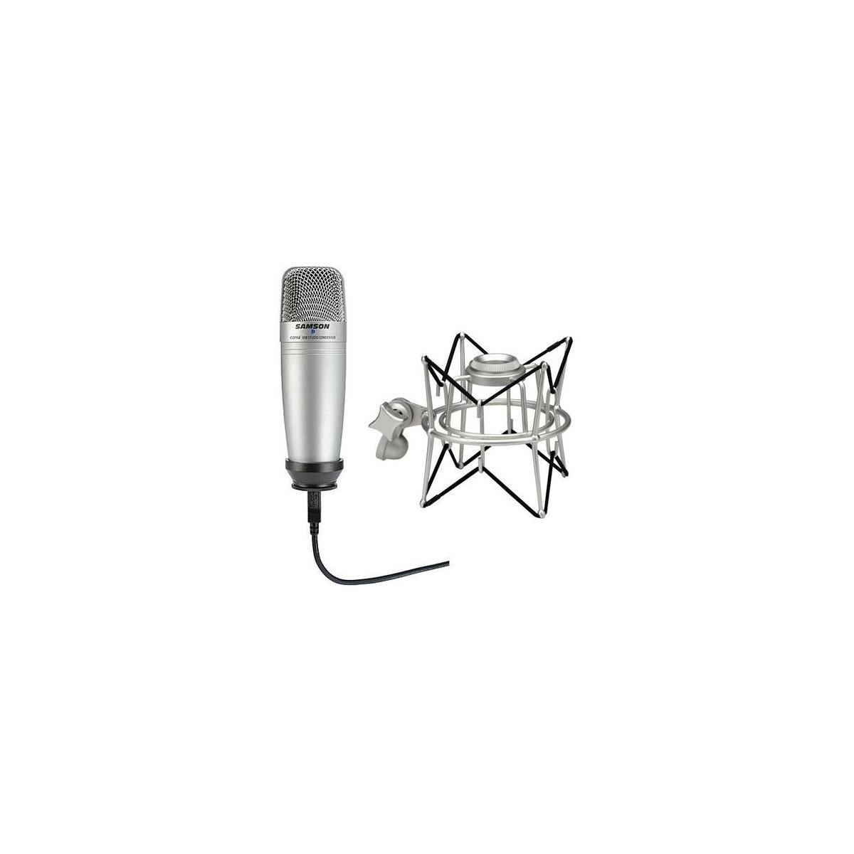 Samson C01UCW USB Condenser Microphone + Samson SASP01 Shock Mount $50 after $5 rebate + free shipping