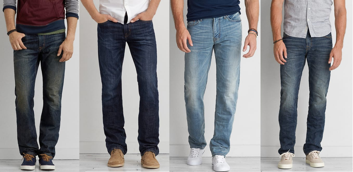 American Eagle Outfitters: Select Men's Jeans 4 Pair for $65 ($16.25 each when you buy 4) + free shoprunner shipping