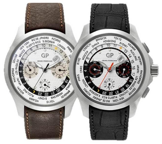 Girard-Perregaux Traveller WW.TC Titanium World Time Automatic Chronograph Watch  $5800 + Free S&H