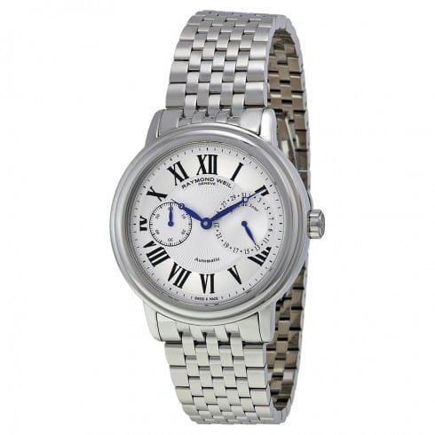 Raymond Weil Maestro SS Bracelet Automatic Watch w/ Seconds / Day Subdials $549 + free shipping