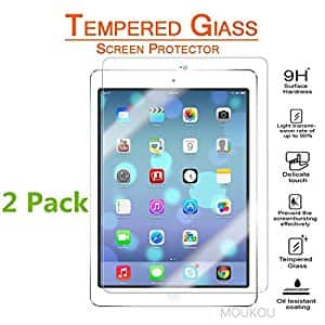 2-Pack iPad Pro 9.7 Inch / iPad Air / iPad Air 2 Tempered Glass Screen Protector $5 @ Amazon
