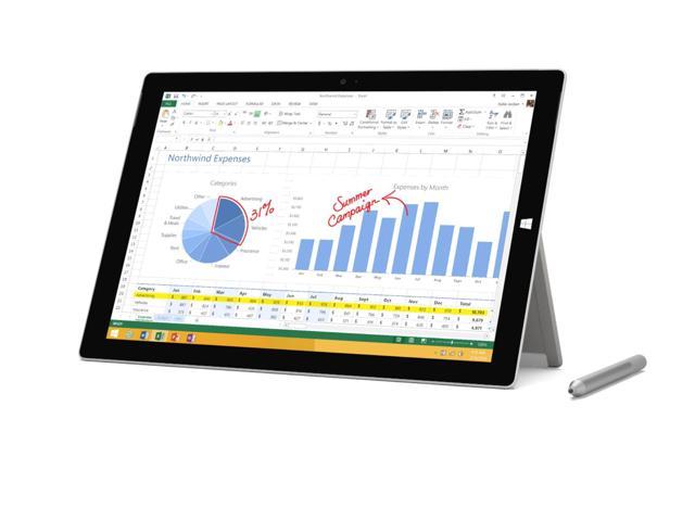 "128GB Microsoft Surface Pro 3 12"" WiFi Tablet:i5-4300U, 4GB DDR3, 128GB SSD, 12"" 2160x1440, WiN 10 $499 w/ Amex Credit $499 + free shipping"