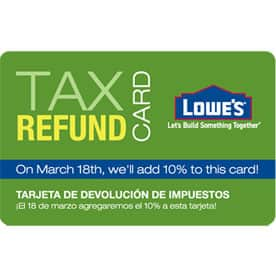 Lowes offering 10% bonus on Gift Cards ($500 min)