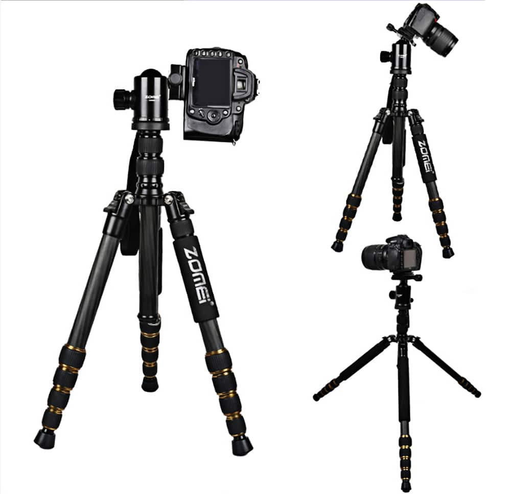 "59"" Zomei Z699C Carbon Fiber Tripod (~3lbs weight, supports 28lbs) $94 + free shipping"