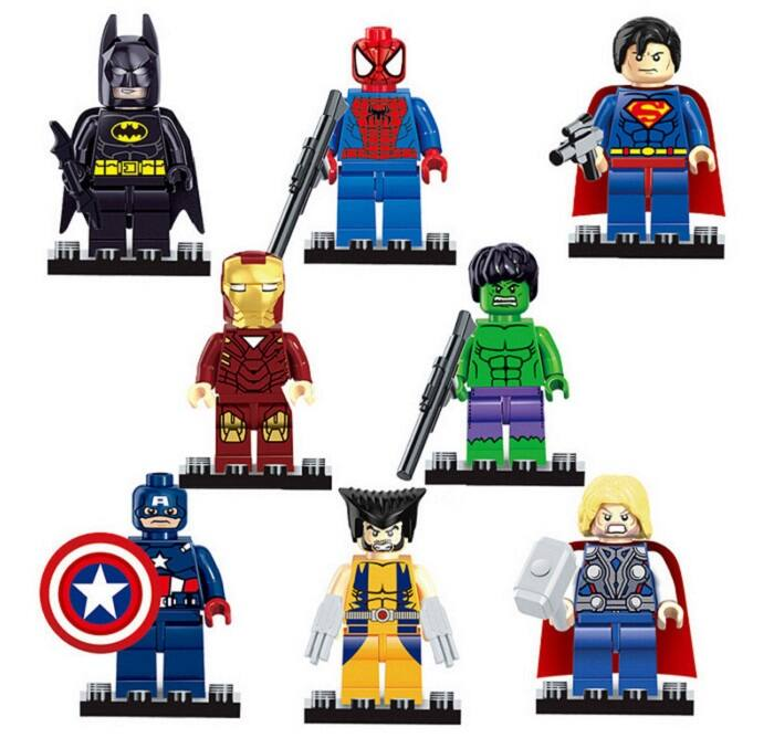 8-Ct Hero Style Building Block DIY Toy $3 + free shipping