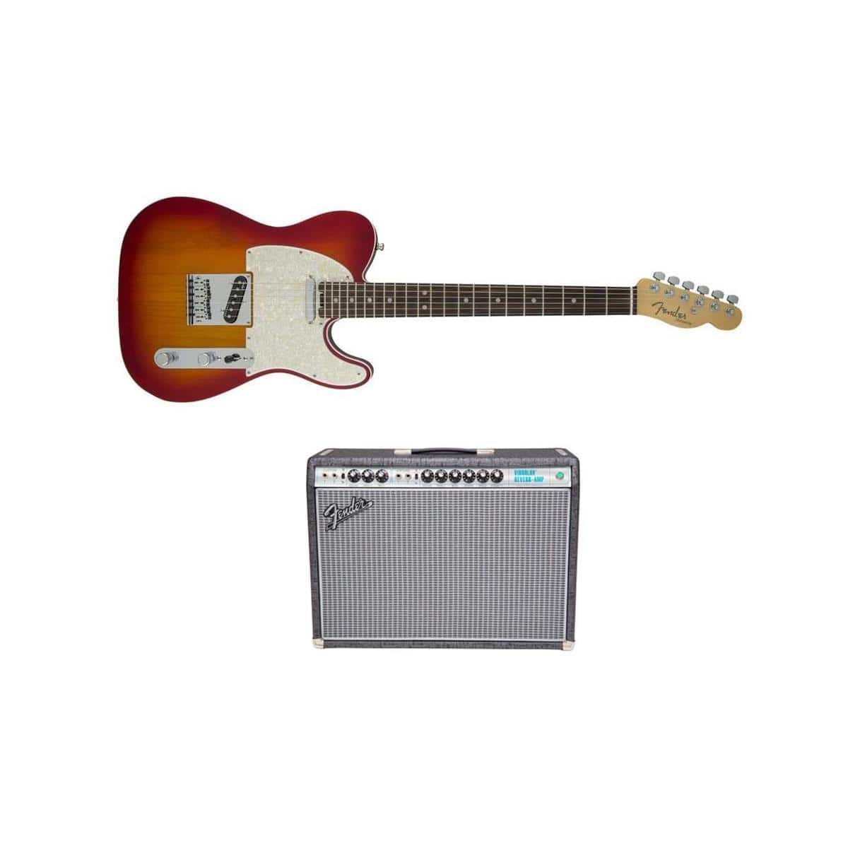 Fender Stratocaster and Telecaster Electric Guitars + Fender Limited Edition 120V '68 Custom Vibrolux Reverb Amp $2099 + free s/h