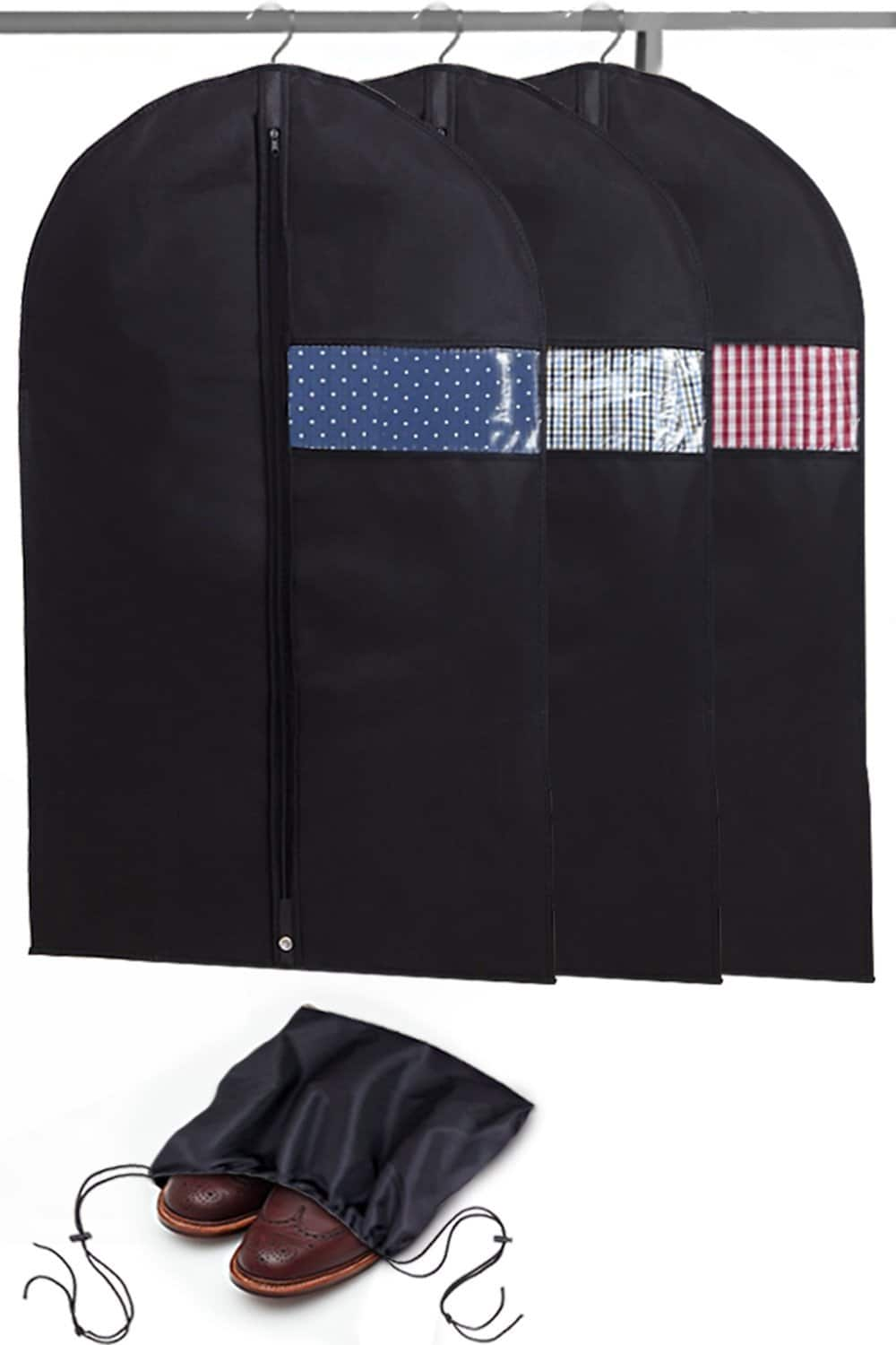 3-Count Garment Bags w/ Shoe Bag  $10, Tumbler Kit (for yeti, rtic & others) $6