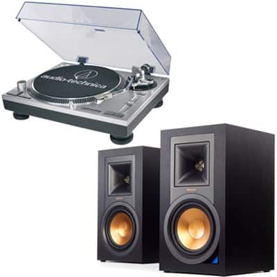 Klipsch R-15PM Bluetooth Speakers + Audio-Technica ATLP120 Turntable $399 + free shipping