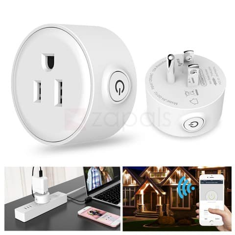 Smart WiFi Outlet Plug Socket w/ Timer & Alexa support  $10 + free shipping