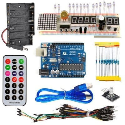 53pc KT003 Arduino UNO Starter Kit with Bread Plate / Sensor / LED Light & More $12 + free shipping