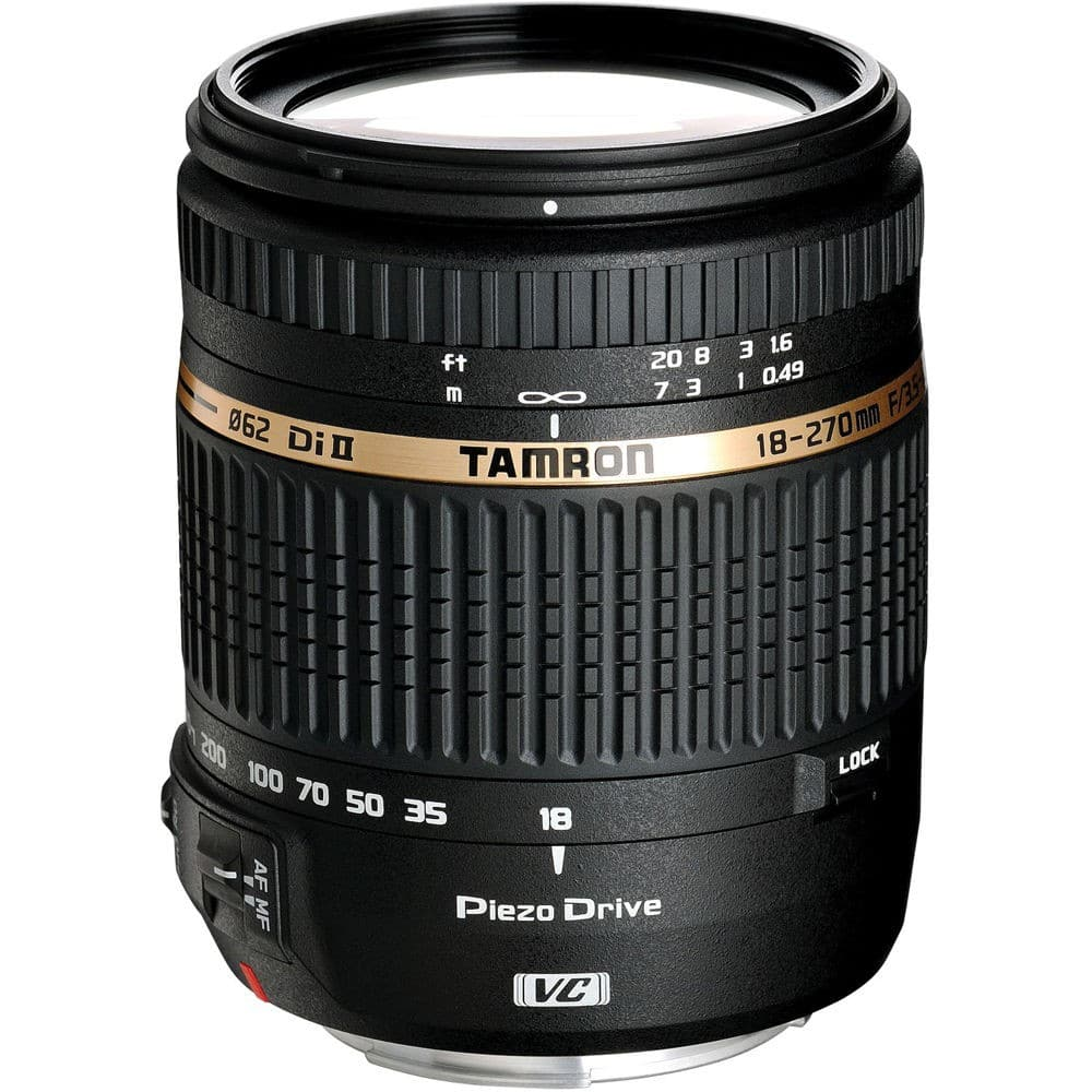 Tamron Lenses: 18-270mm Di II VC PZD Lens (Nikon) $199, 16-300mm (Canon) $329 or SP 85mm f/1.8 (Canon) $499 after Slickdeals Rebate + free s/h