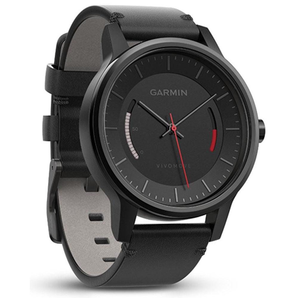 Garmin Vivomove Classic Activity Tracker w/ Leather Strap (Black) $49.99 + Free Shipping