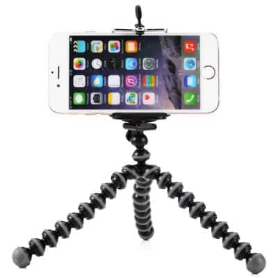 Mini Octopus Flexible Tripod $0.99 or Memory Storage Pouch $0.99 + free shipping